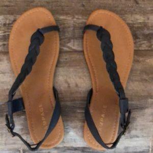 Never worn black Rampage sandals